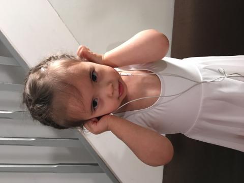Arabella in dance gear