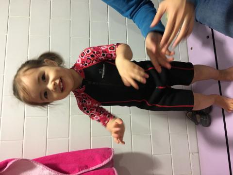Arabella in swimming gear