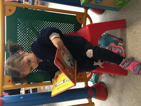Arabella in reading mood
